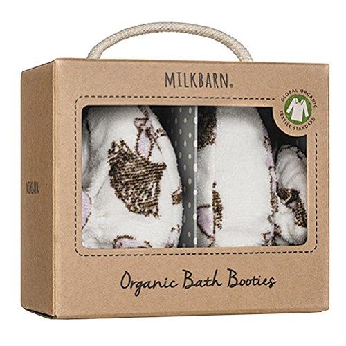 Milkbarn Baby-Schühchen Badeschühchen aus Bio-Baumwoll-Frottee in der Grösse 0 - 9 Monate Motiv Fuchs Hirsch
