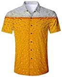 Goodstoworld Kurzärmlige Hemd Herren Oktoberfest Kurzarm Hemden Orange Männer Hawaiihemd Slim Fit Freizeit Outdoor Shirt