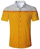 Goodstoworld Chemises Casual Hommes Géniales de Style Hawaïen Imprimé Génial 3D Manches Courtes Shirt  Détails: ☞ 100% Terivoile. C'est une procédure spéciale, dans laquelle 100% de fibres de polyester sont tissées et drapées comme de la soie. ☞ B...