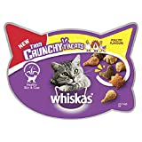 Poultry , 55 g, Pack of 8 : Whiskas Trio Crunchy Poultry Flavours Cat Treats, 55 g, Pack of 8