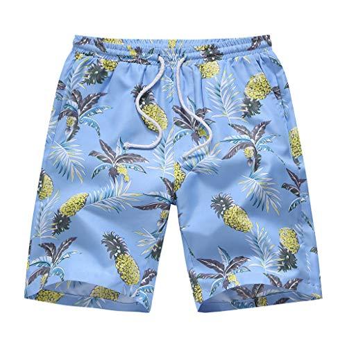 GreatestPAK Herren Chino Shorts Hawaii Neu Baumwolle Mehrfach Strandhose,Blau,EU:XXS(Tag:S)
