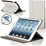 ForeFront Cases� New iPad 2 / iPad 3 & iPad 4 Luxury Leather Case / Cover Stand - Apple iPad 2 , iPad 3 & iPad 4 / 2nd , 3rd & 4th Gen - Magnetic Auto Sleep Wake Function + STYLUS & SCREEN PROTECTOR WORTH �9.95 - WHITE