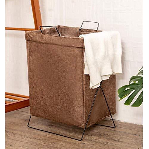 Caja de almacenamiento de la canasta de lavandería de la canasta de lavandería de la canasta grande plegable de almacenamiento en el dormitorio - artículos diversos para refrigerios (marrón)