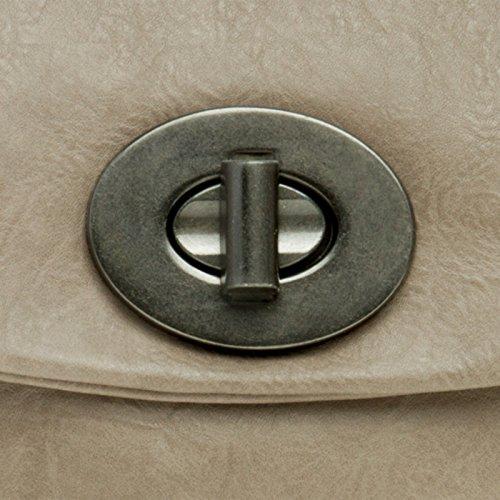 CASPAR TA339 Pochette da sera clutch da donna Marrone (Grigio tortora)