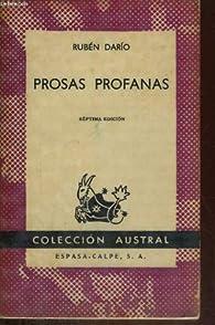 PROSAS PROFANAS par Rubén Darío