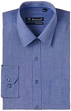 Hancock Men's Business Shirt (1089_Blue_38)