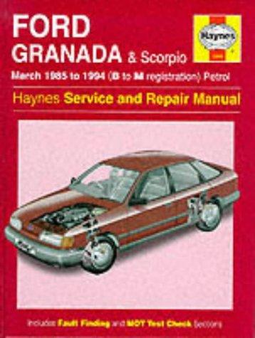 Ford Granada and Scorpio ('85 to '94) Service and Repair Manual (Haynes Service and Repair Manuals) por Matthew Minter