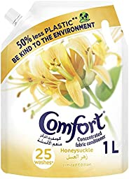 Comfort Concentrated Fabric Conditioner Honey Suckle, 1 liter Pouch
