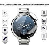 Fiimi Protector de pantalla de cristal templado para Motorola Moto 3602nd Gen 42mm
