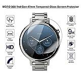 fiimi 42mm Film de protection d'écran en verre trempé pour Motorola Moto 3602nd Gen, dureté 9h, épaisseur de 0,3mm, fabriqué à partir de verre véritable