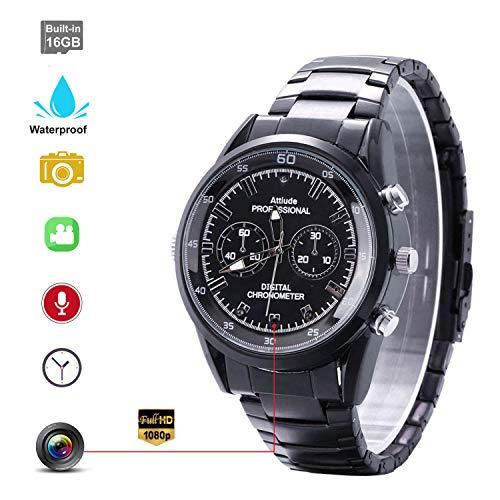 Telecamera nascosta orologio da polso impermeabile telecamera spia nascosta con Smart Watch HD 1920 × 1080P Motion Detection telecamera notturna di visione notturna a raggi infrarossi 16GB