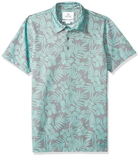 28 Palms Relaxed-Fit Hawaiian Performance Pique polo-shirts, Green Floral, X-Large (Polo-shirt Hawaiian)