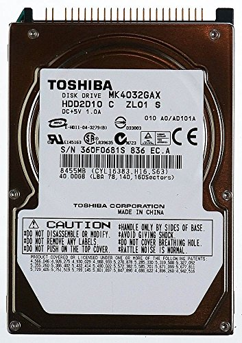 Toshiba 40 Gb Notebook-festplatte (Original Toshiba 40GB MK4032GAX IDE 2.5 zoll Notebook HDD Festplatte, NEUW.)
