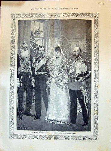 1896 königlichen Hochzeits-Braut-Prozessions-Buckingham Palace-James Palast-Dekorationen