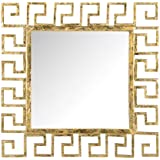 """Different Art Decorative Gold Finishing Square Shape Iron Wall Mirrorfor Living Room (DAE2521_23"""" X 1"""" X 23"""")"""