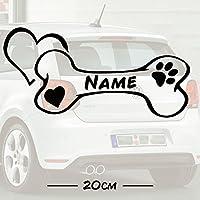 #1 Hunde Knochen Love mit Wunschtext | Name | Auto Aufkleber | Hund | Haustier | Wunschtext