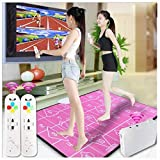 G'z Wireless Widened Double Dance Mats, Foam Play Mat Thickening Soundproofing Soft Dance Mats for Adults/Children Hd Tv Computer Dual-Use English Manual, A, 85 * 170Cm