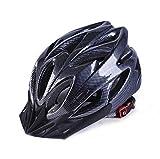 Ulmisfee Casco de Ciclismo Unisex para Adultos Casco de Bicicleta BMX para Ciclismo de Carretera Montaña Protección de Seguridad con Visera Extraíble y Correa Reflectante Ajustable
