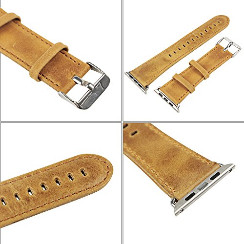PU Leather Watch Band Replacement Bracelet Strap For Smart Watch 42mm UK