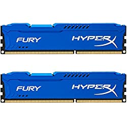 Kingston HyperX Fury Kit Memorie DDR-III 8GB, 2x4 GB, PC 1600, Blu