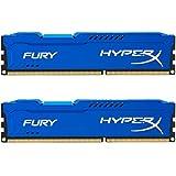 HyperX Fury - Memoria RAM de 8 GB (1600 MHz DDR3 Non-ECC CL10 DIMM, Kit 2x4 GB), Color Azul