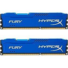 Kingston HyperX Fury - Memoria RAM de 16GB (2 x 8 GB, 1600 MHz, DDR3, CL10), azul