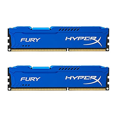 HyperX Fury HX316C10FK2/8 Arbeitsspeicher 8GB (1600MHz, CL10, 2x 4GB) DDR3-RAM Kit blau (3 Modul Kit)