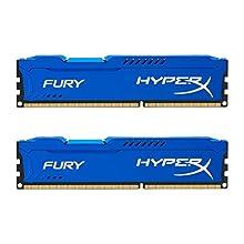 HyperX HX316C10FK2 / 16 Fury Blue RAM, DDR3, 16GB (Kit 2x 8GB), 1600MHz, CL10, 240-pin UDIMM