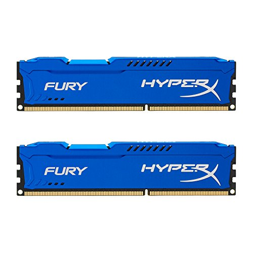 Kingston HyperX Fury Kit Memorie DDR-III 8GB, 2x4 GB, PC 1600, Blu