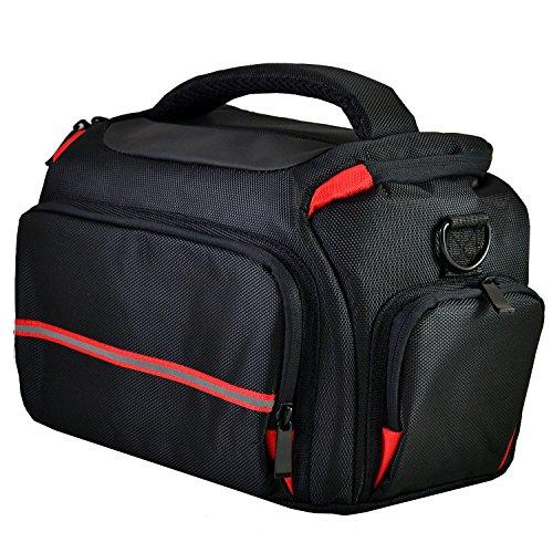 Galleria fotografica Camera bag custodia per Canon EOS 80D 100D 650D 700D 1200D 1300D 5D (nero)