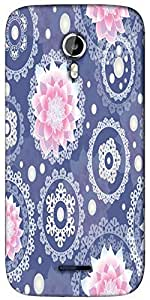 Snoogg Delightful flower pattern cute Designer Protective Back Case Cover For Micromax A117