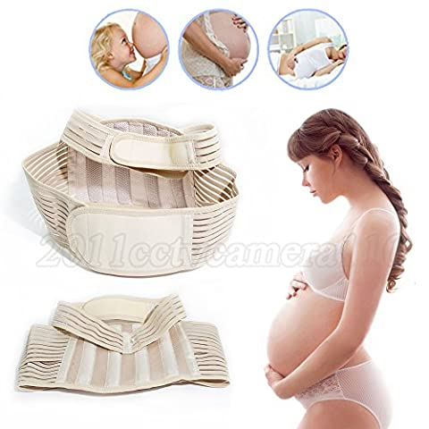 Nestling® Pregnancy Belt-Baby Special Support Belt Ventilated, breathable, elastic waistband Postpartum / After Pregnancy / Maternity, Band Stand Size, Belly (Back M)