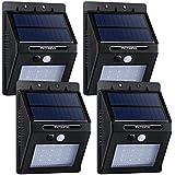 VicTsing Foco Solar / luz solar con Sensor de Movimiento de 320lm 4 Packs 14 HORAS de Usar.