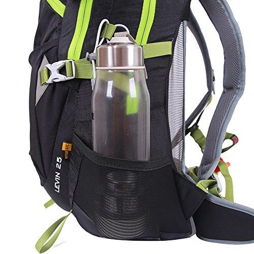 EGOGO 25L Impermeabile Traspirante Ciclismo Zaino Viaggio Breve Zaino Trekking Alpinismo con Parapioggia S2986 (Nero) Blu Chiaro