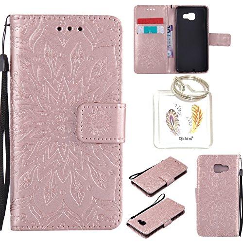 für Samsung Galaxy A3 2016 ( A310 F ) Geprägte Muster Handy PU Leder Silikon Schutzhülle Handy case Book Style Portemonnaie Design für Samsung Galaxy A3 2016 ( A310 F ) + Schlüsselanhänger(/*5) (8)