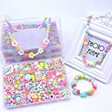 #2: Bead Kit - 24 Grid Make up Puzzle Handmade Jewelry Making Kits Jewelry Beads Toys Fun for Kid Necklace and Bracelet Jewelry Art Set Accessories Birthday Gift for Baby Girl by Shuban- Assorted Design