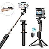 Palo Selfie Bluetooth, Matone Palo Selfie Trípode con Control Remoto para Gopro y Más Cámaras Deportiva, 360°Rotación Extensible Selfie Stick para iPhone X / 8 Plus / 7 / 6S, Galaxy S9 / S9 Plus / S8
