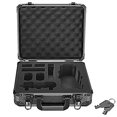 Neewer DJI Mavic Pro Drone Case, Aluminum Hardshell Carrying Case Bag Suitcase for DJI Mavic Pro Drone Foldable Quadcopter Drone and Accessories, 3.86 pounds/1.75 kilogram, Black