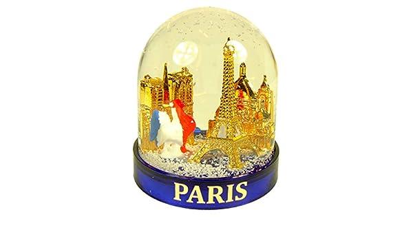 Souvenirs de France Bleu Boule /à Neige Luxe Paris Coq en Coffret Cadeau