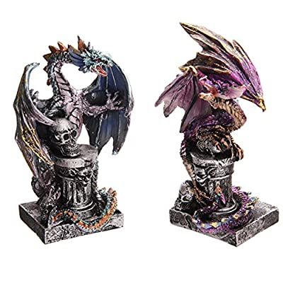 Dark Legends Dragon on Skull Pillar 12.5cm