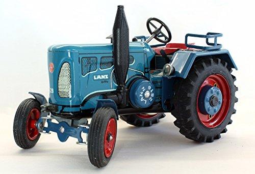 Traktor / Lanz / D 2816 / Mit Federwerk zum Aufziehen mit Schlüßel / Voll funktionsfähig / Lenkung / Schaltung / Handbremse /