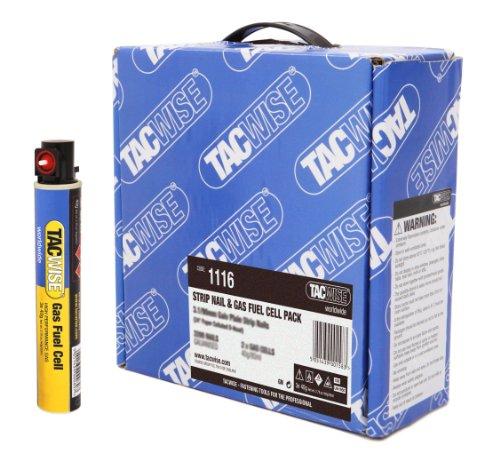 Tacwise 1116 Bande de 2200 Clous galvanisés 3,1/90mm avec 2...
