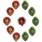 Diya For Decoration | Diya For Puja | Diya Lamps For Pooja | Diwali Gifts And Decoration(Set Of 11, Handmade)