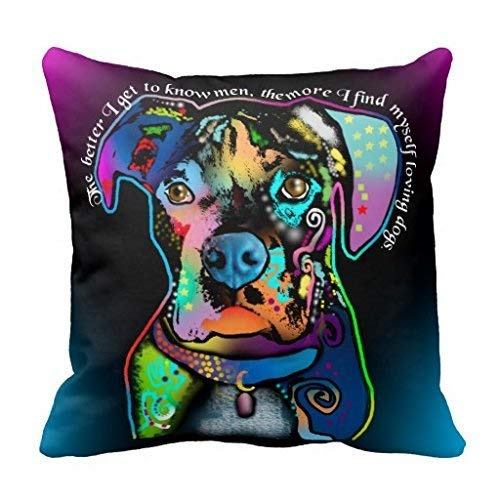Jolly2T Boxer Dog Pop Art Style for Dog Lovers Pillow Case -