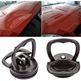 Buyiord Car Small Dent Puller Handle Lifter Suction Cup Dent Remover Heavy Duty Repair Panel Tools (Black)