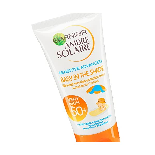Garnier ambre solaire, factor de protección solar 50 protector solar para bebe – 50 ml