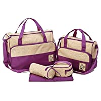 Other 5-In-1 Set Multi Function Baby Diaper Nappy Bag Mummy Babies Bags Changing Set Handbag