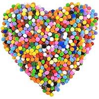 NATUCE Pompones, 1000PCS Pompones de Colores, Pompones Manualidades Pequeños, Pompones de Colores Manualidades Mini, Bolas Fieltro Colores para Manualidades de Bricolaje
