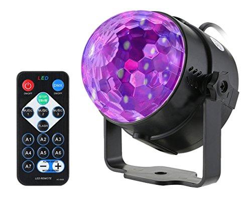 Lichteffekte Disco Party Licht Bühnenbeleuchtung mit Fernbedienung Magic Ball mit Tonsteuerung für Festival Bar Club (Disco-lichter Ball)