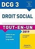 DCG 3 - Droit social 2019 - Tout-en-Un